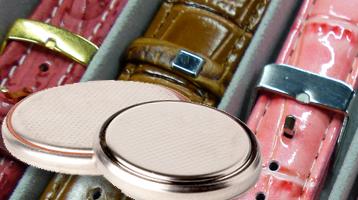 Changement de piles et bracelets de montres